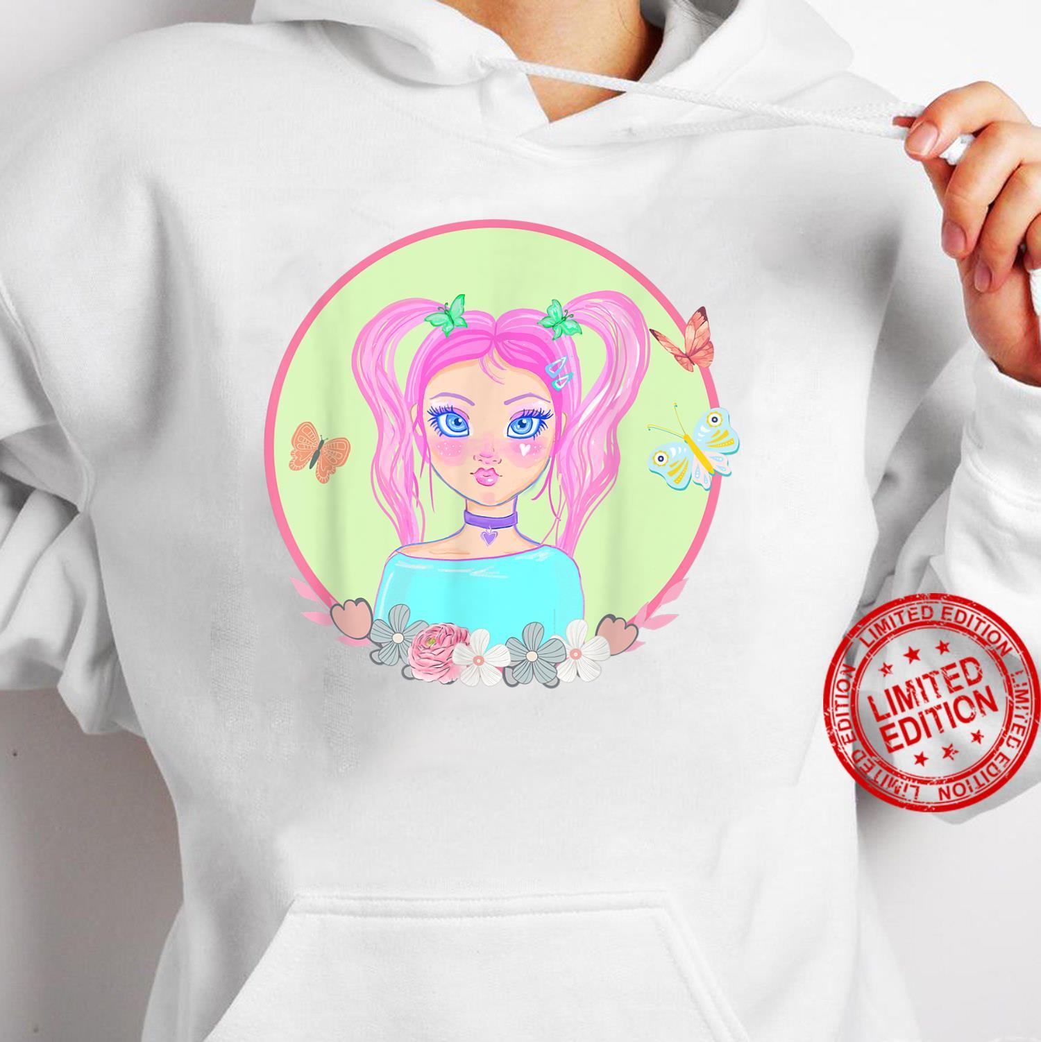 Soft Girl, Soft Girl Aesthetics, Butterflies, Pink Hair Shirt hoodie