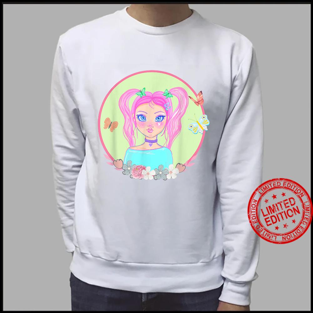 Soft Girl, Soft Girl Aesthetics, Butterflies, Pink Hair Shirt sweater