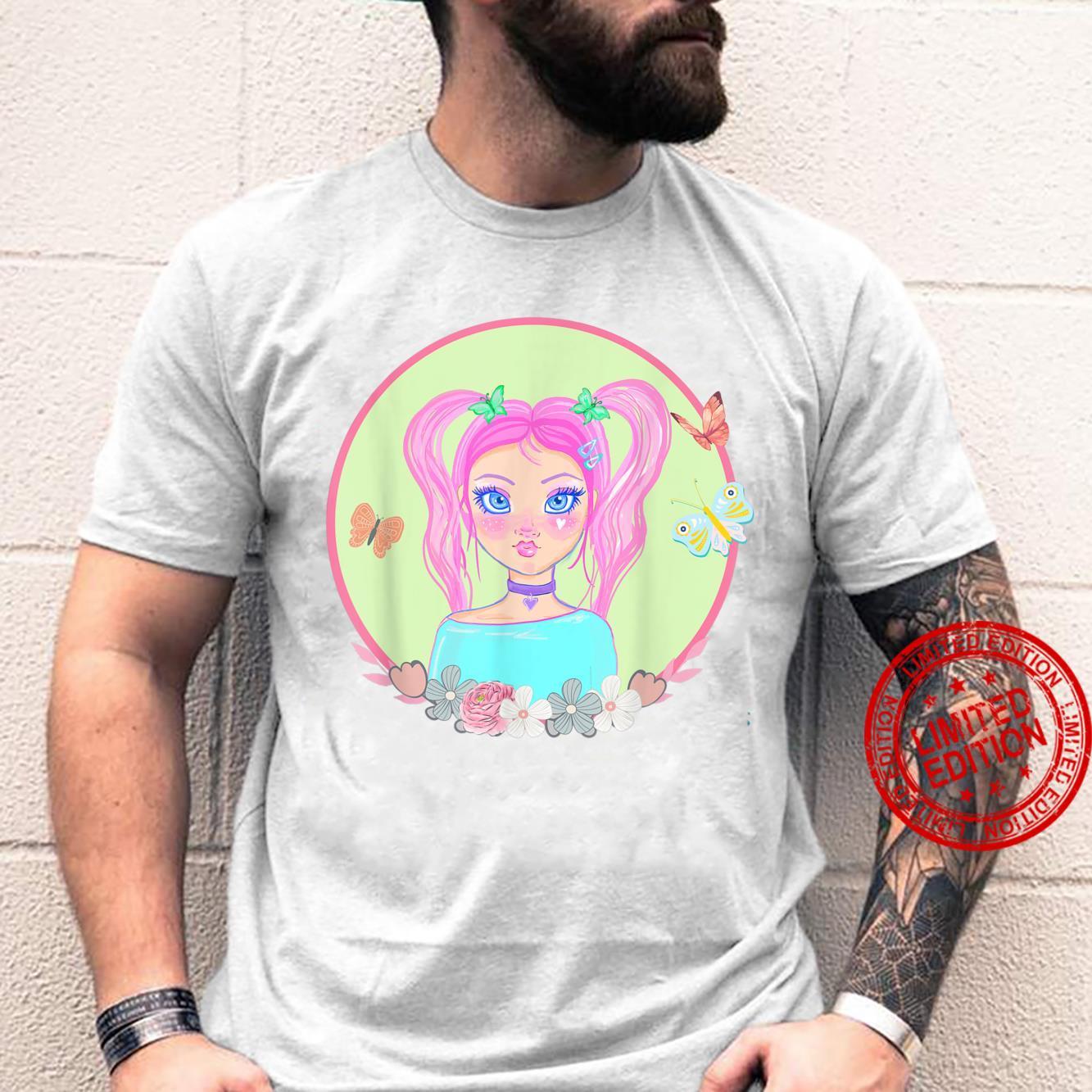 Soft Girl, Soft Girl Aesthetics, Butterflies, Pink Hair Shirt