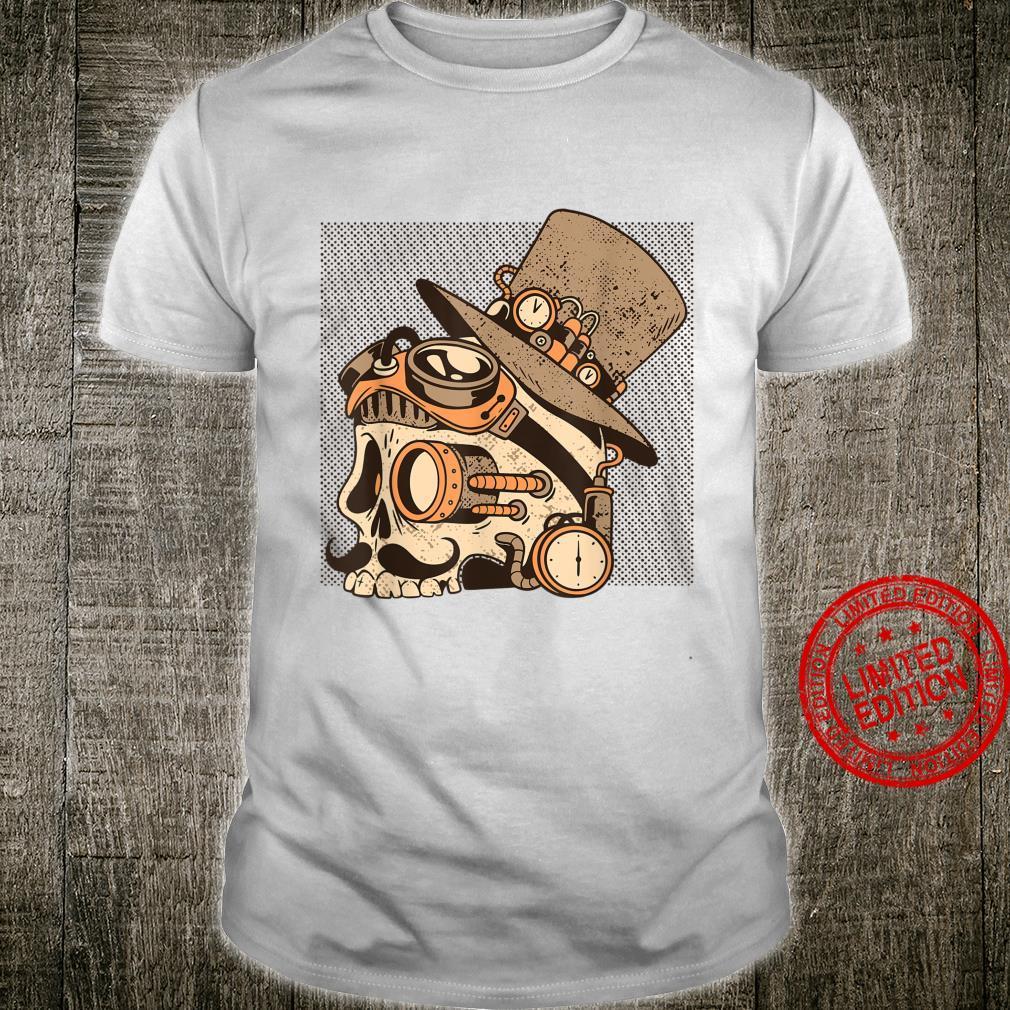 Steampunk Schädel Kopf Retro Look Shirt