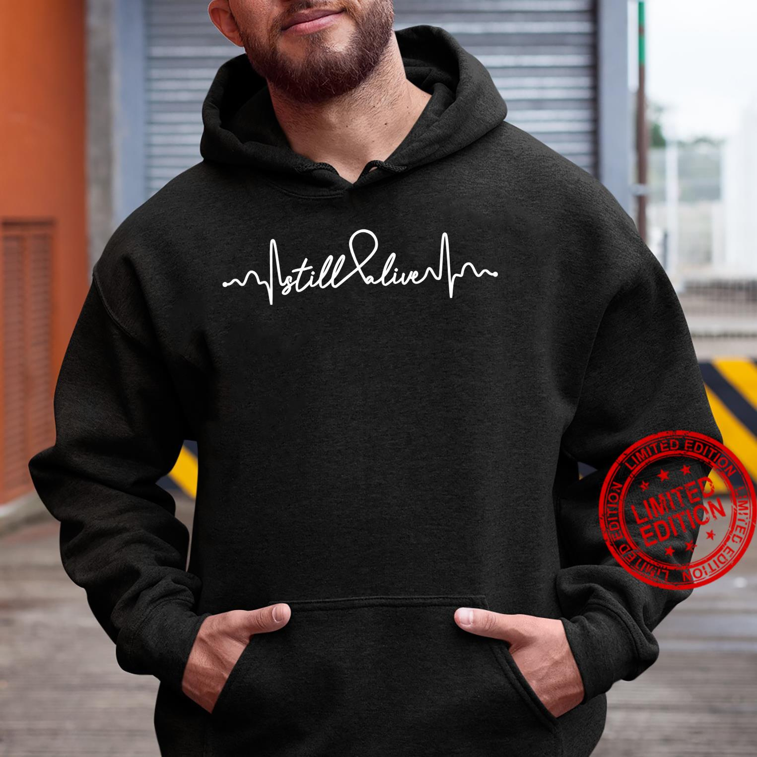 Still Alive Lung Cancer Awareness Supporter Ribbon Shirt hoodie