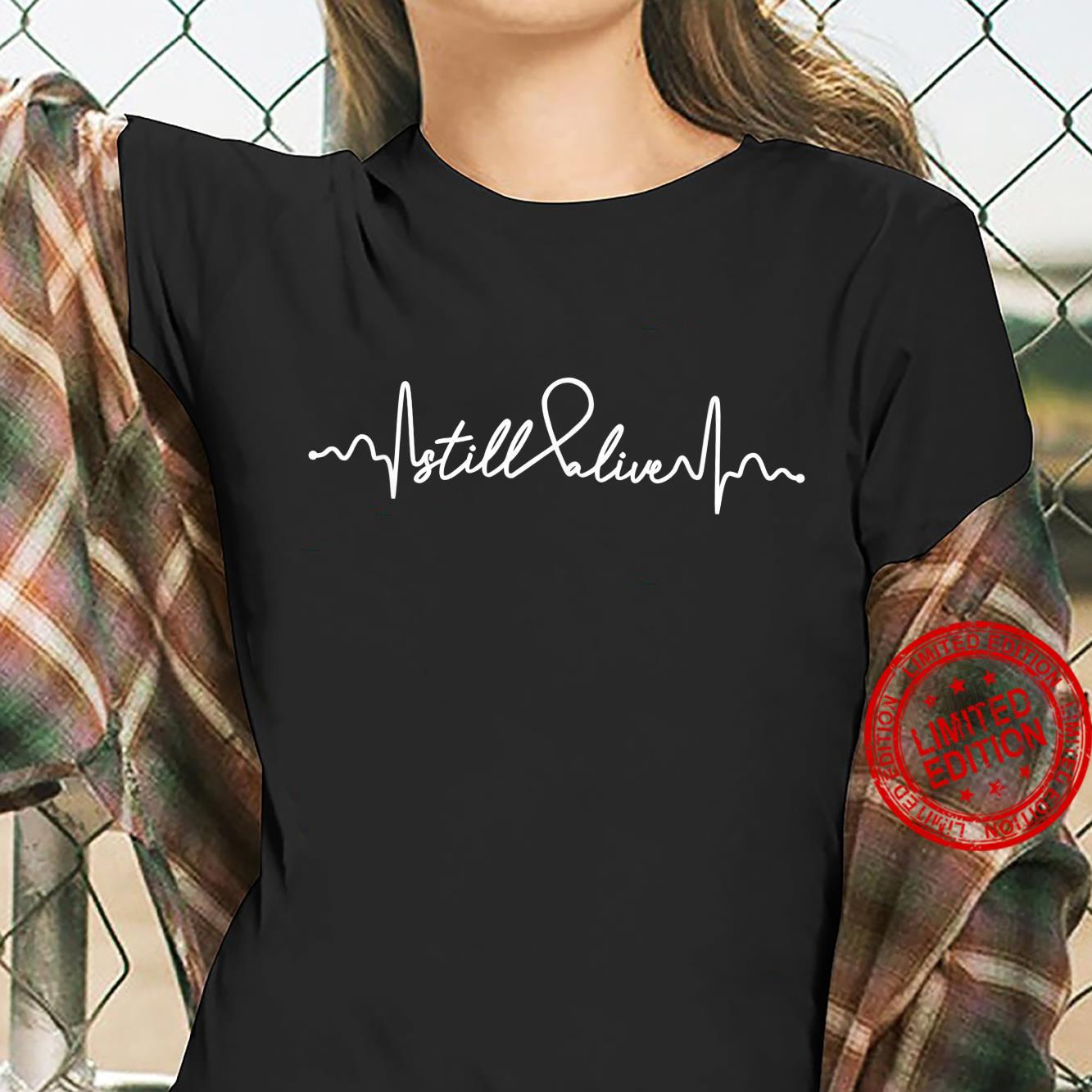 Still Alive Lung Cancer Awareness Supporter Ribbon Shirt ladies tee
