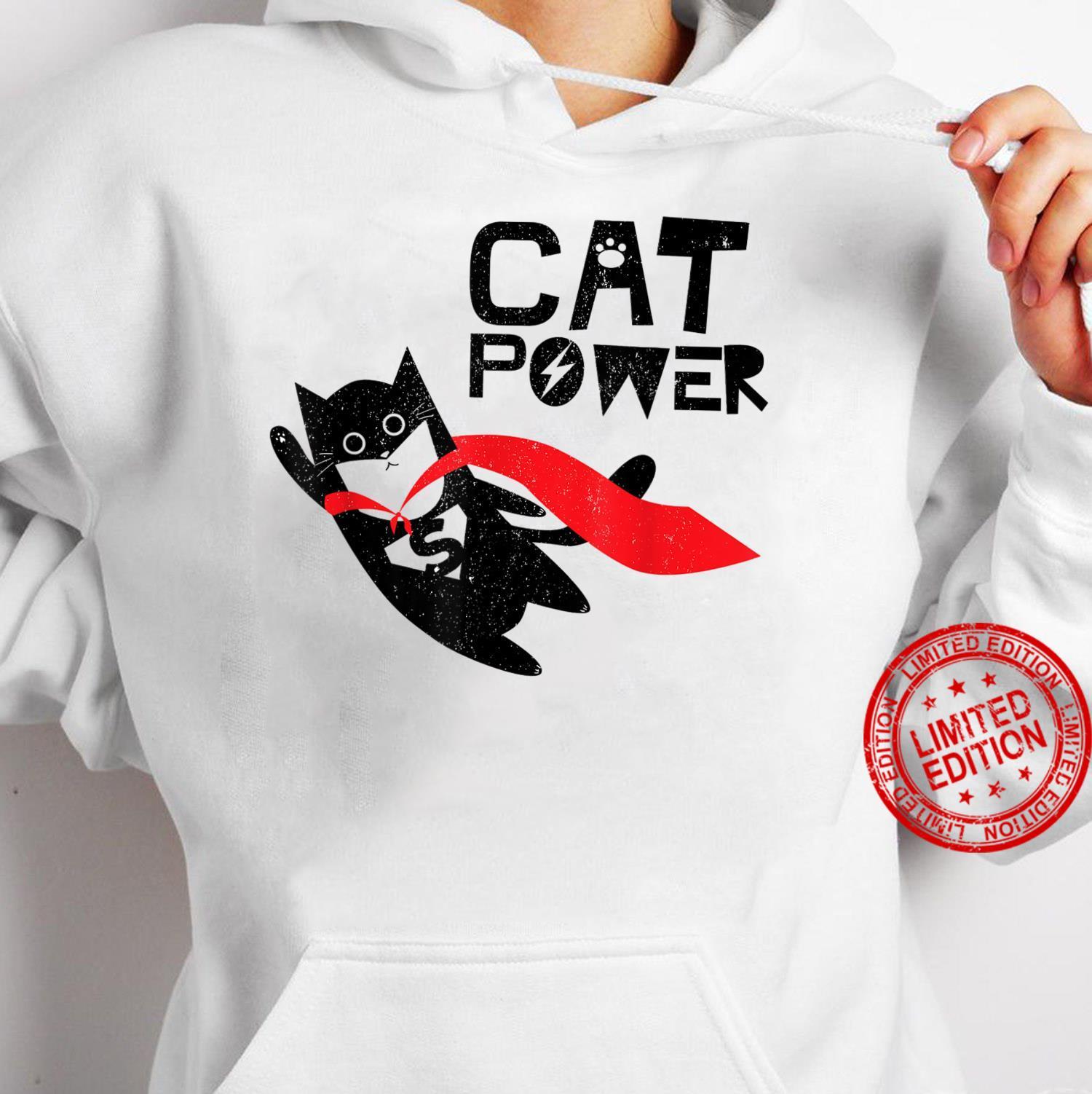 Super Hero Cat Power For Kid Shirt hoodie