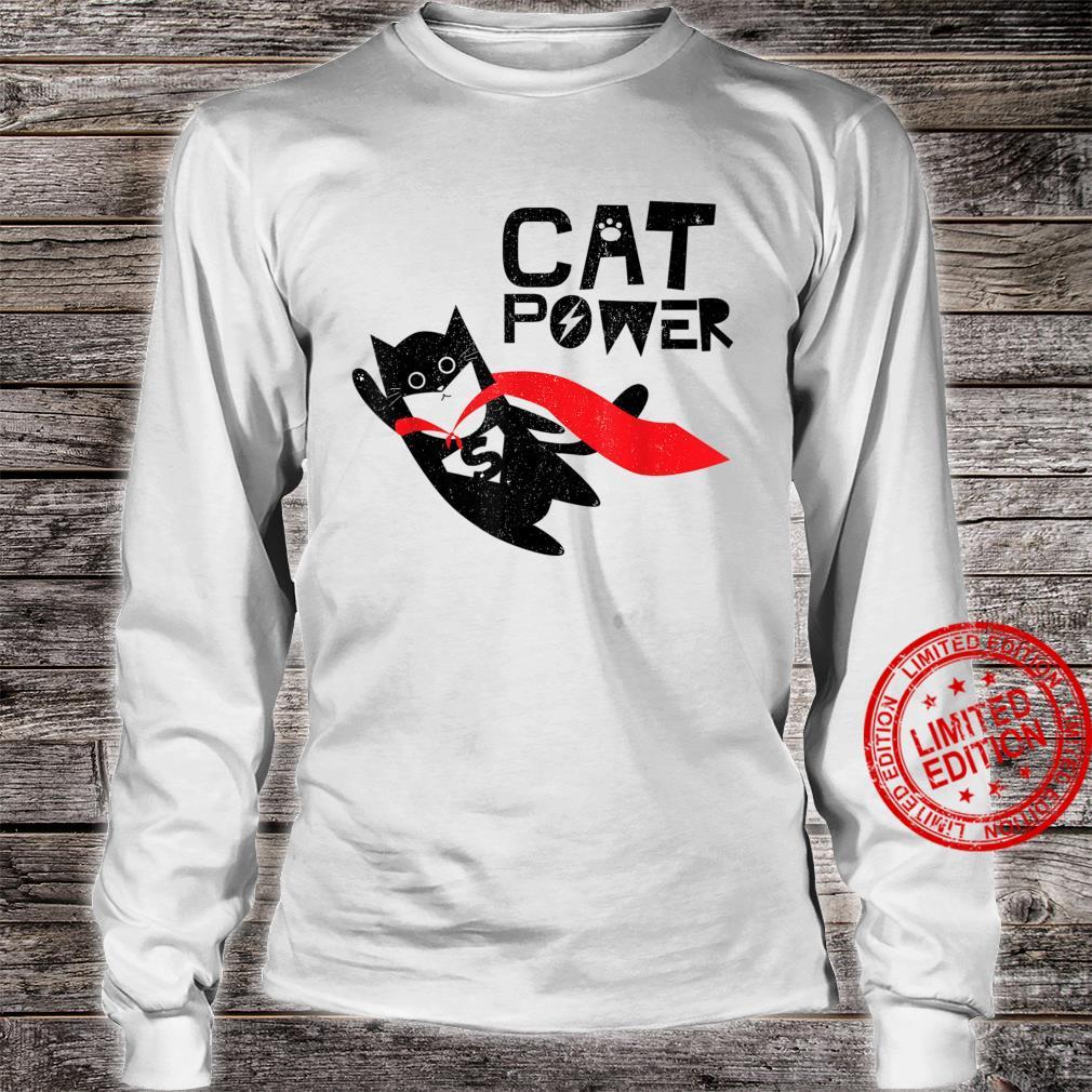 Super Hero Cat Power For Kid Shirt long sleeved