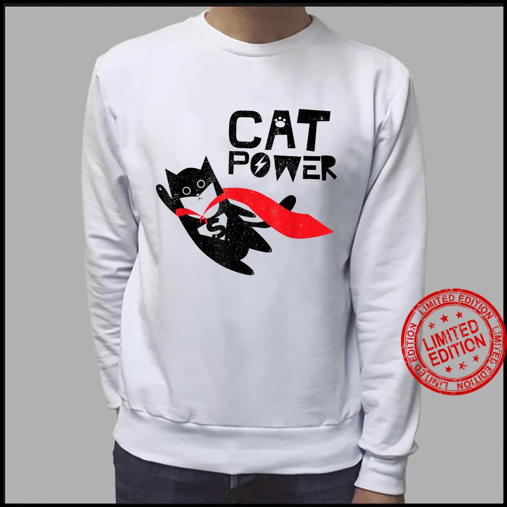 Super Hero Cat Power For Kid Shirt sweater