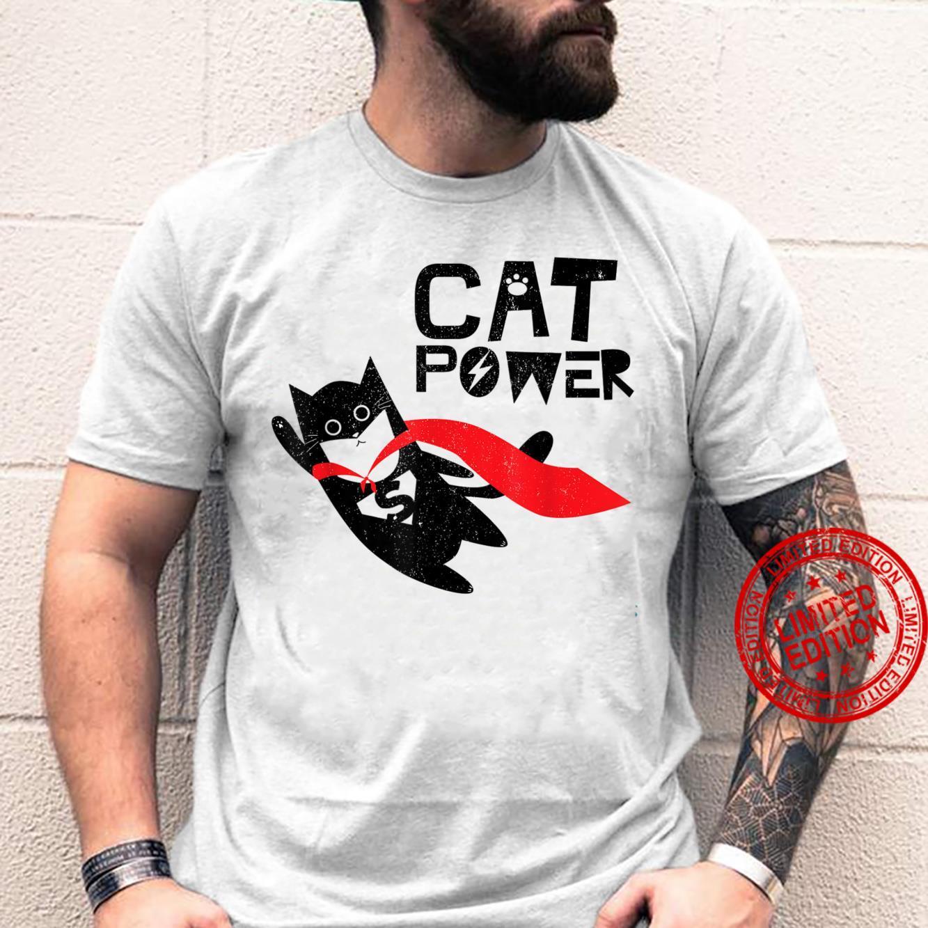 Super Hero Cat Power For Kid Shirt