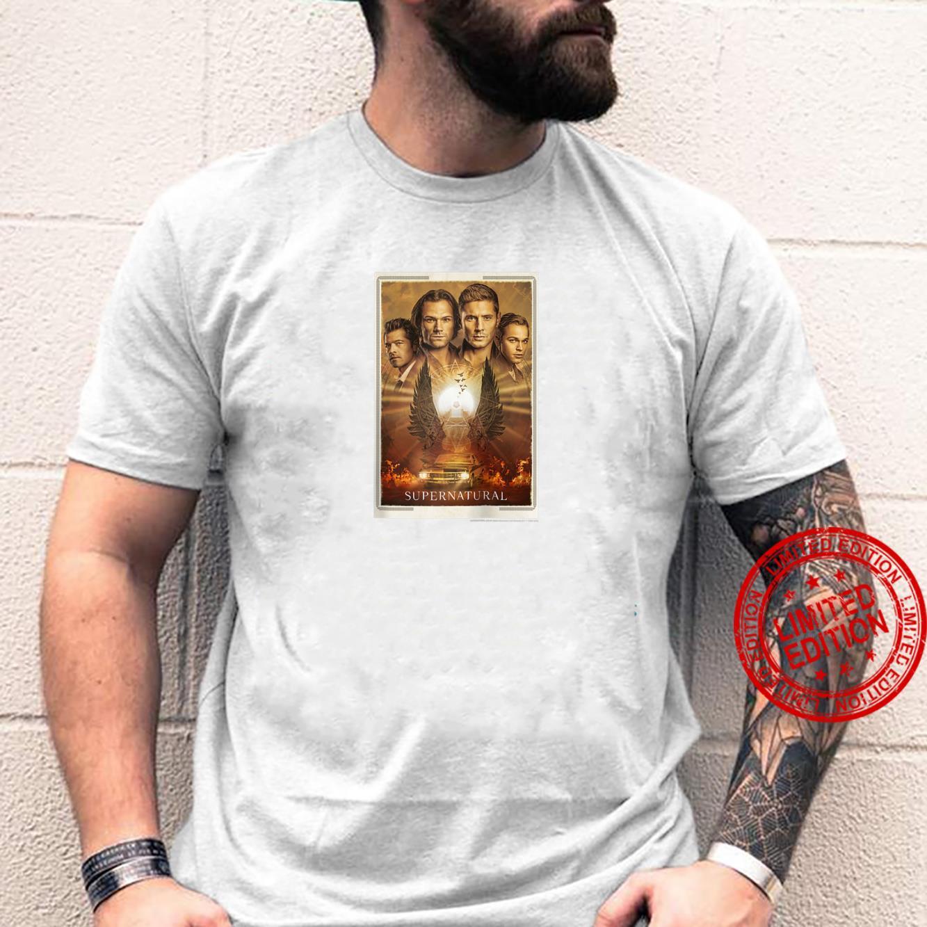 Supernatural Group Shot Sepia Tone Finale Shirt