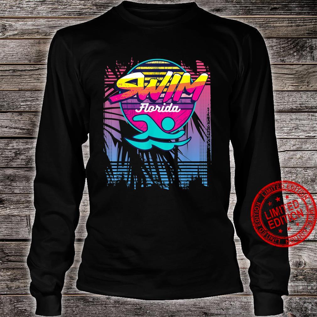 Swim Florida Retro Swimmers 80s 90s Aesthetic Shirt swim florida retro swimmers 80s 90s