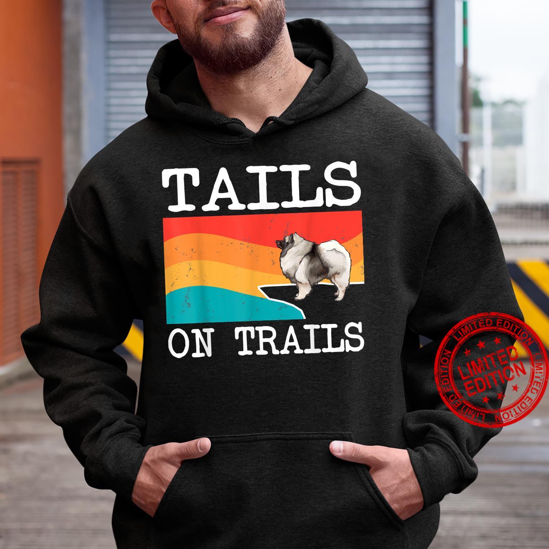Tails On Trails Keeshond Dog Hiking Shirt hoodie