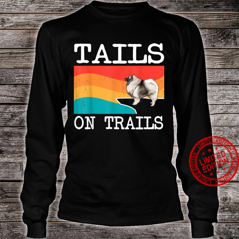 Tails On Trails Keeshond Dog Hiking Shirt long sleeved