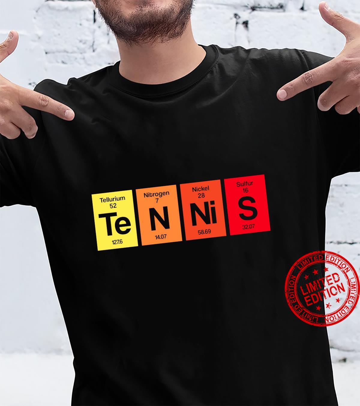 Tennis Periodensystem Tennisspieler Tennistrainer Geschenk Shirt