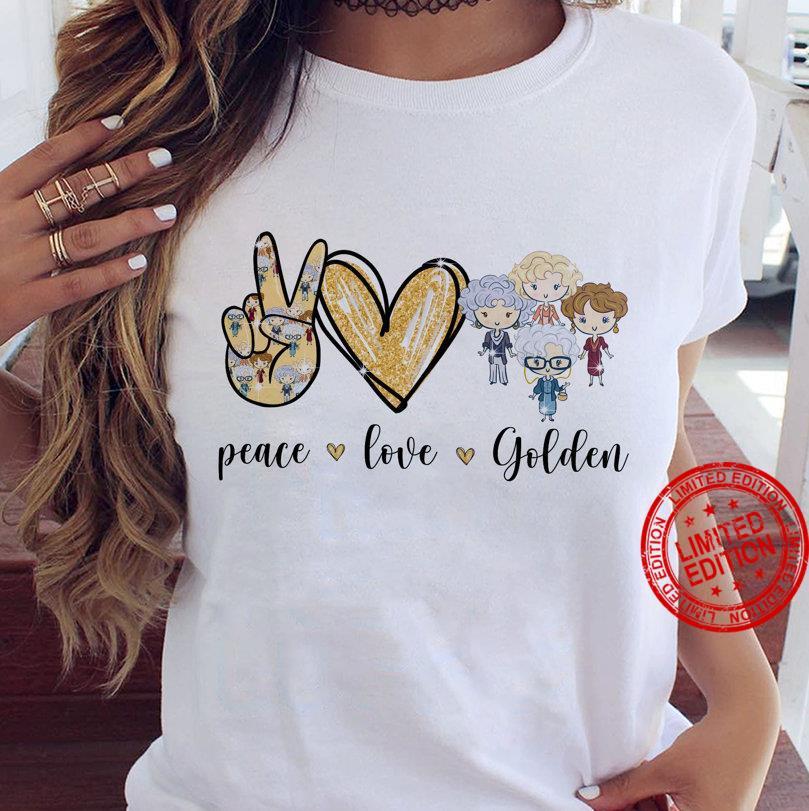 The Golden Girls Peace Love Chibi Golden Girls Shirt