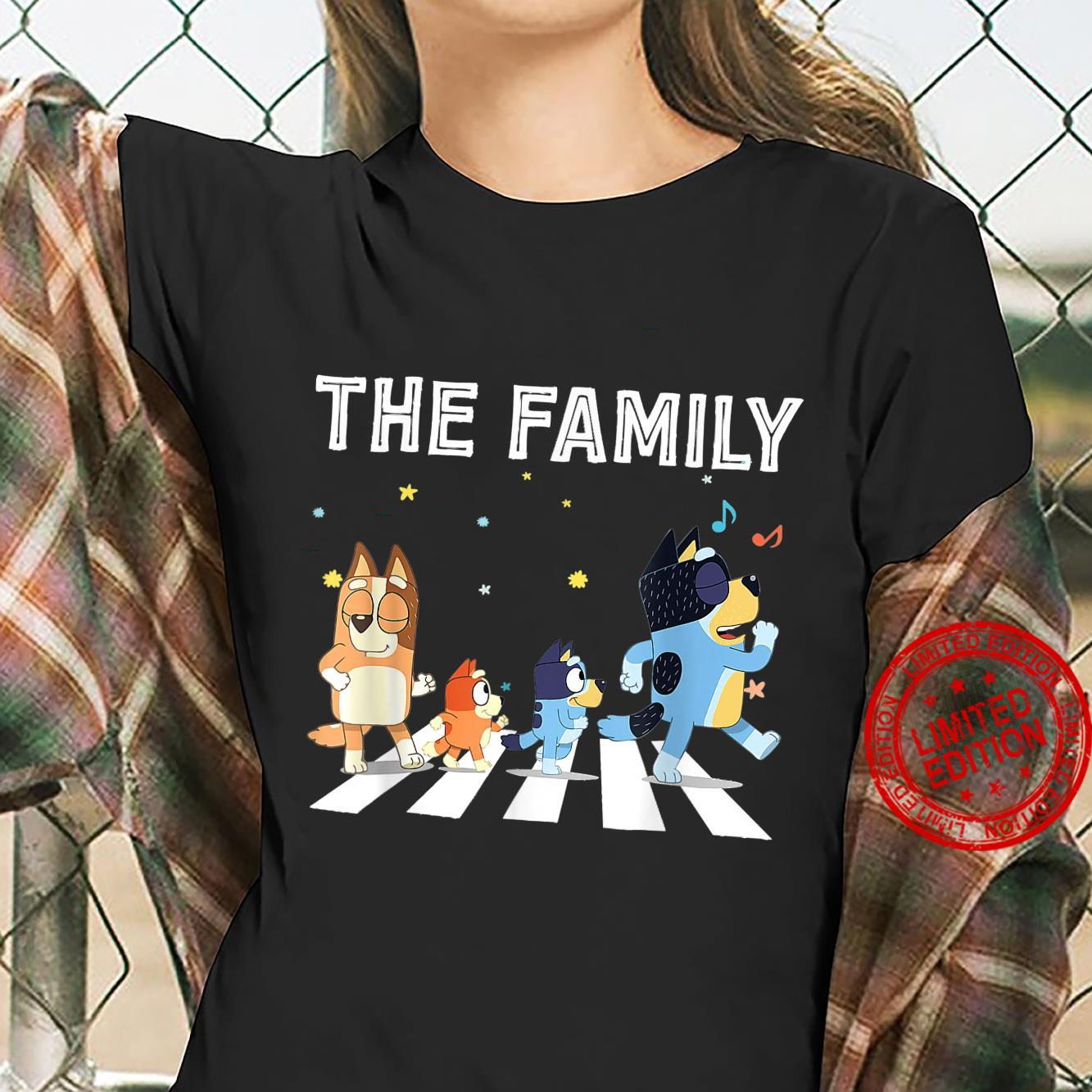 The Heel.er Family B.lue.y Dad Mom For Shirt ladies tee