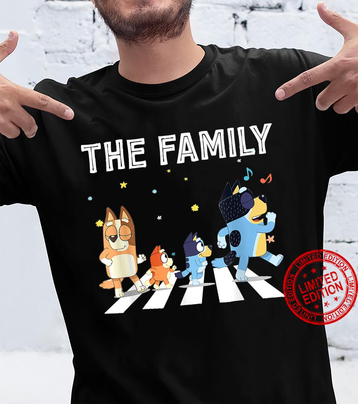 The Heel.er Family B.lue.y Dad Mom For Shirt