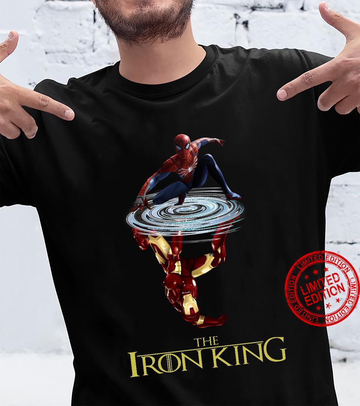 The Iron King Spiderman Water Mirror Iron Man Shirt
