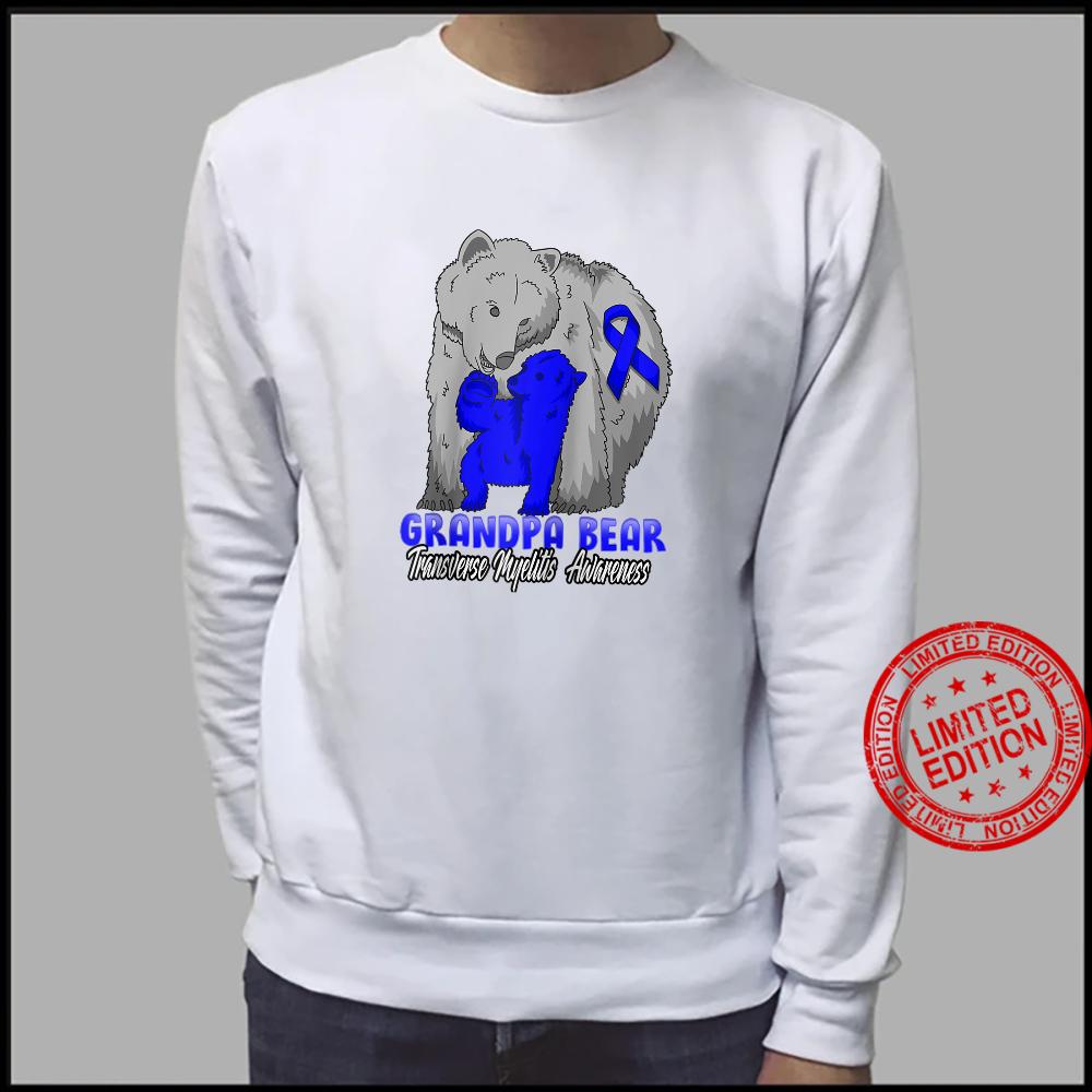 Transverse Myelitis Child Awareness Grandpa Bear Support Rib Shirt sweater