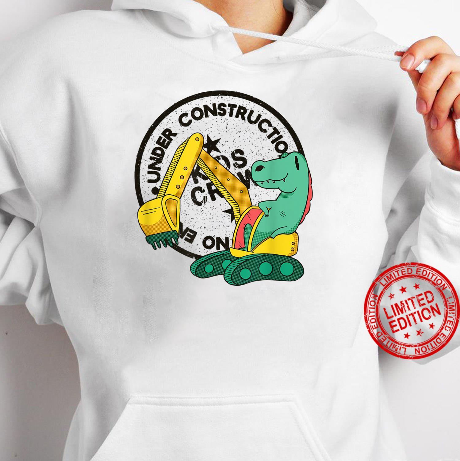 Under Construction Building zone Excavator Boy Shirt hoodie