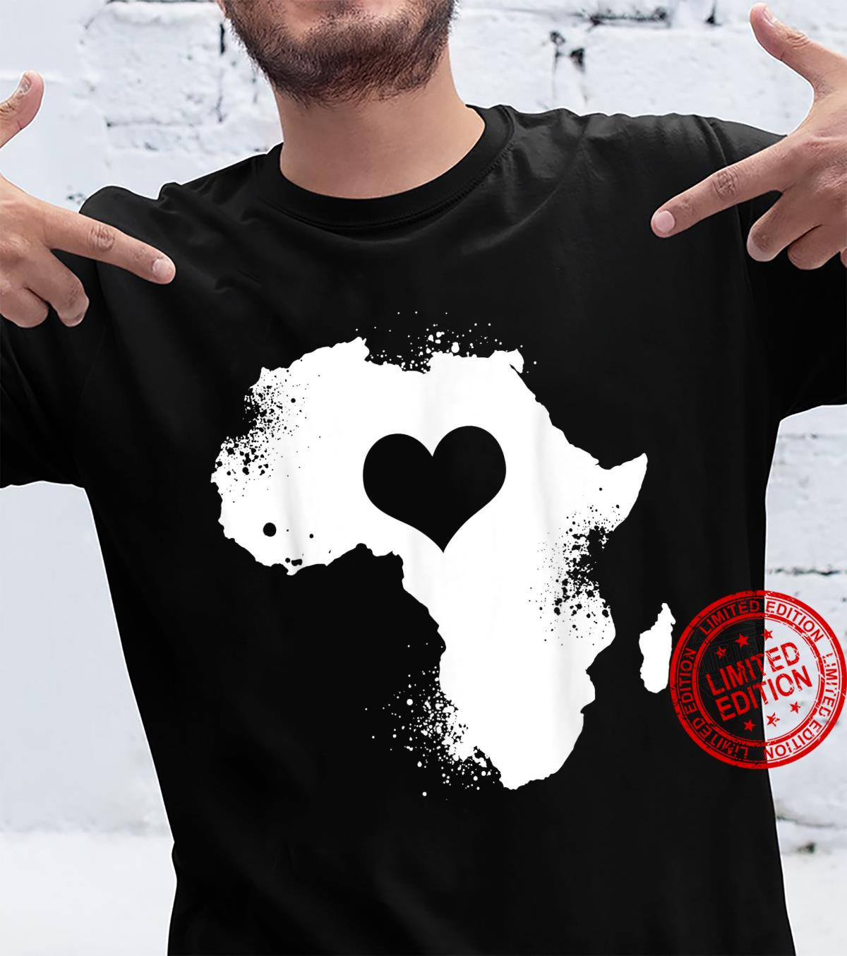 Vintage African Heart Africa Silhouette Africa Continent Shirt