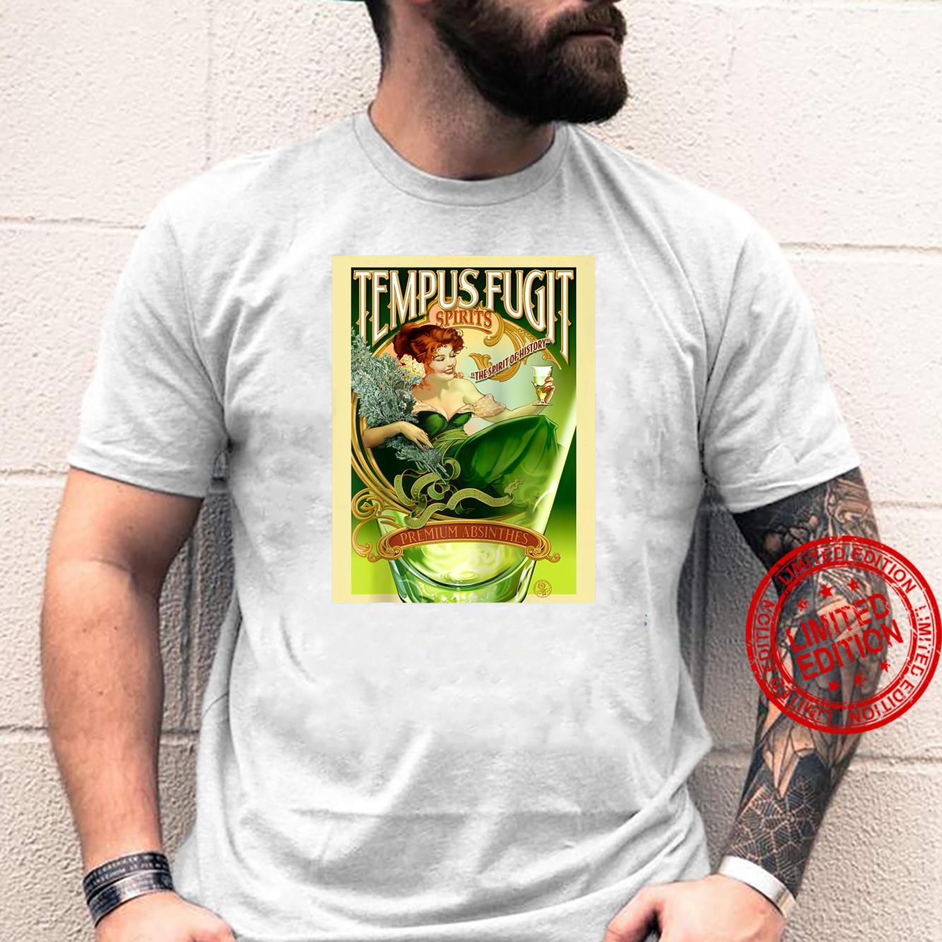 Vintage poster Temps Fugit Absinthe Shirt