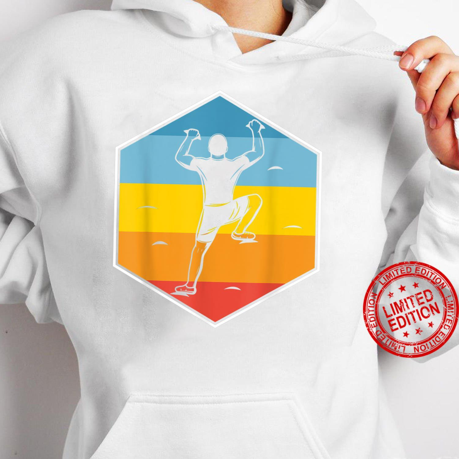 Wall Climb Hobby Sports Kletterer Retro Indoor Klettern Shirt hoodie