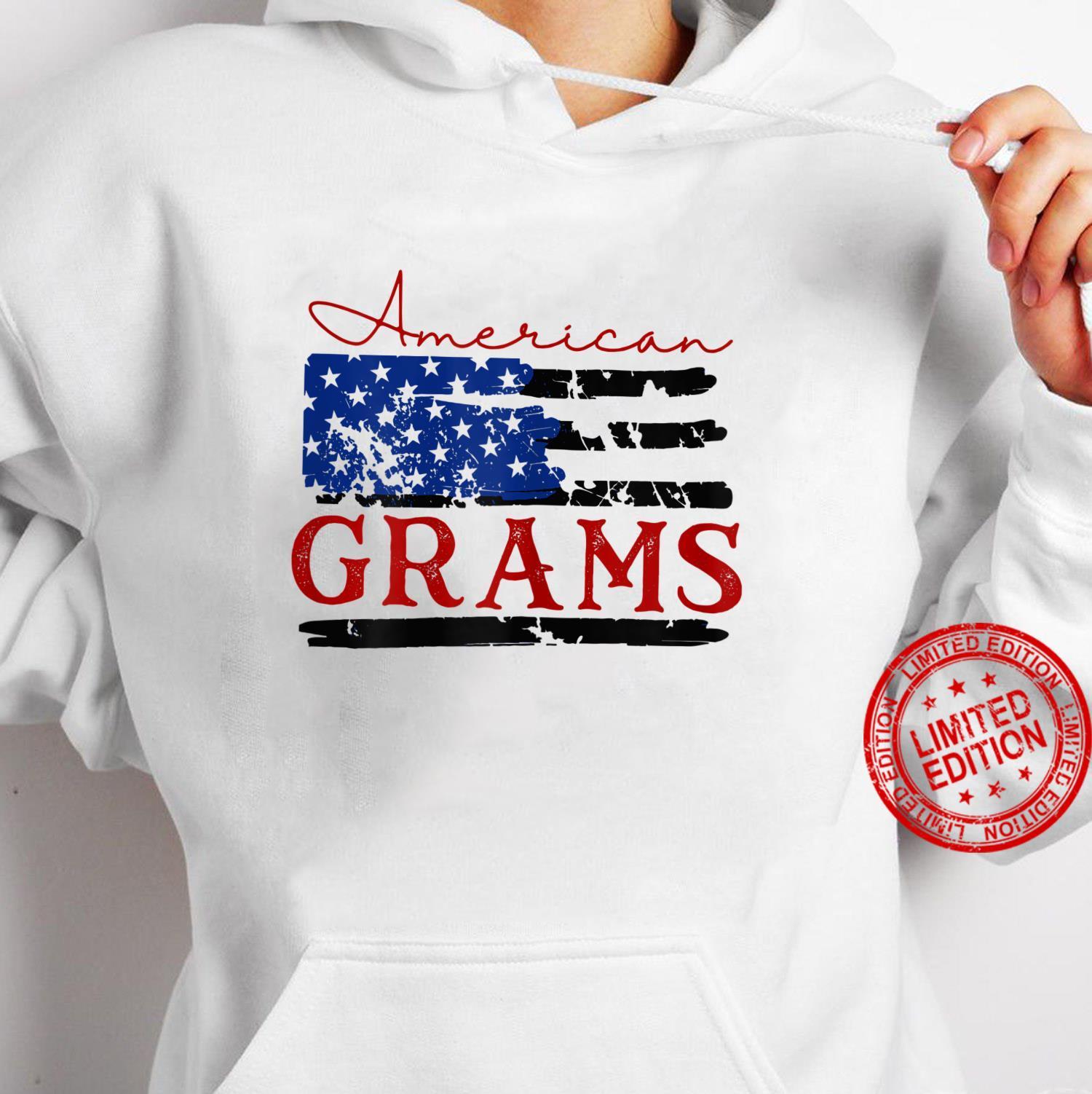 Womens American Grams Flag, Cute 4th of July USA Shirt hoodie