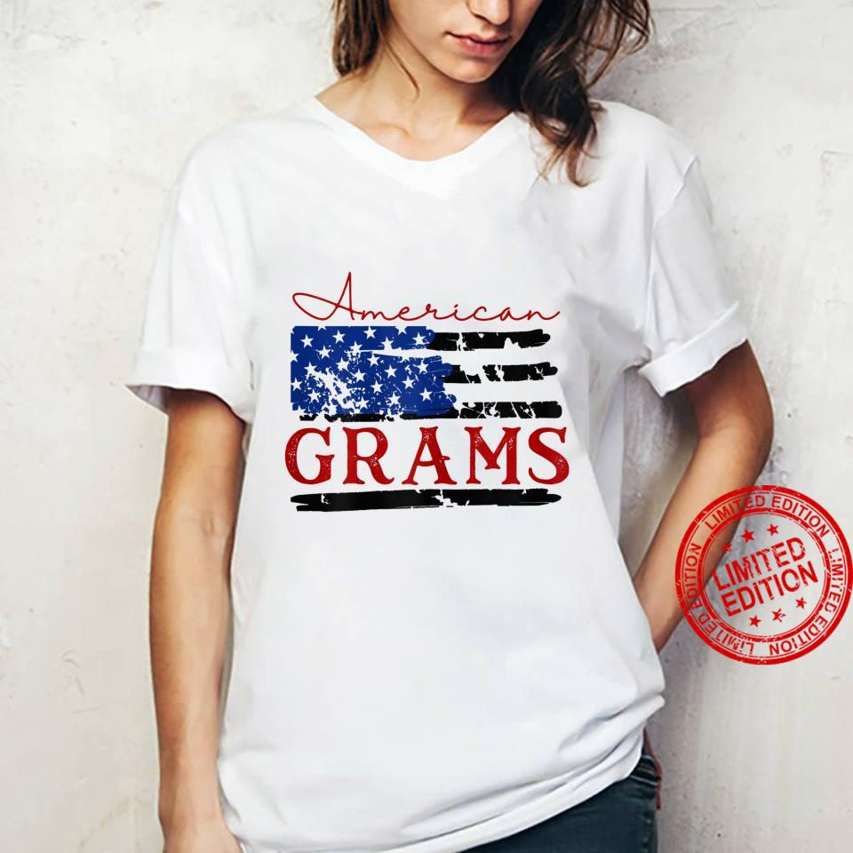 Womens American Grams Flag, Cute 4th of July USA Shirt ladies tee