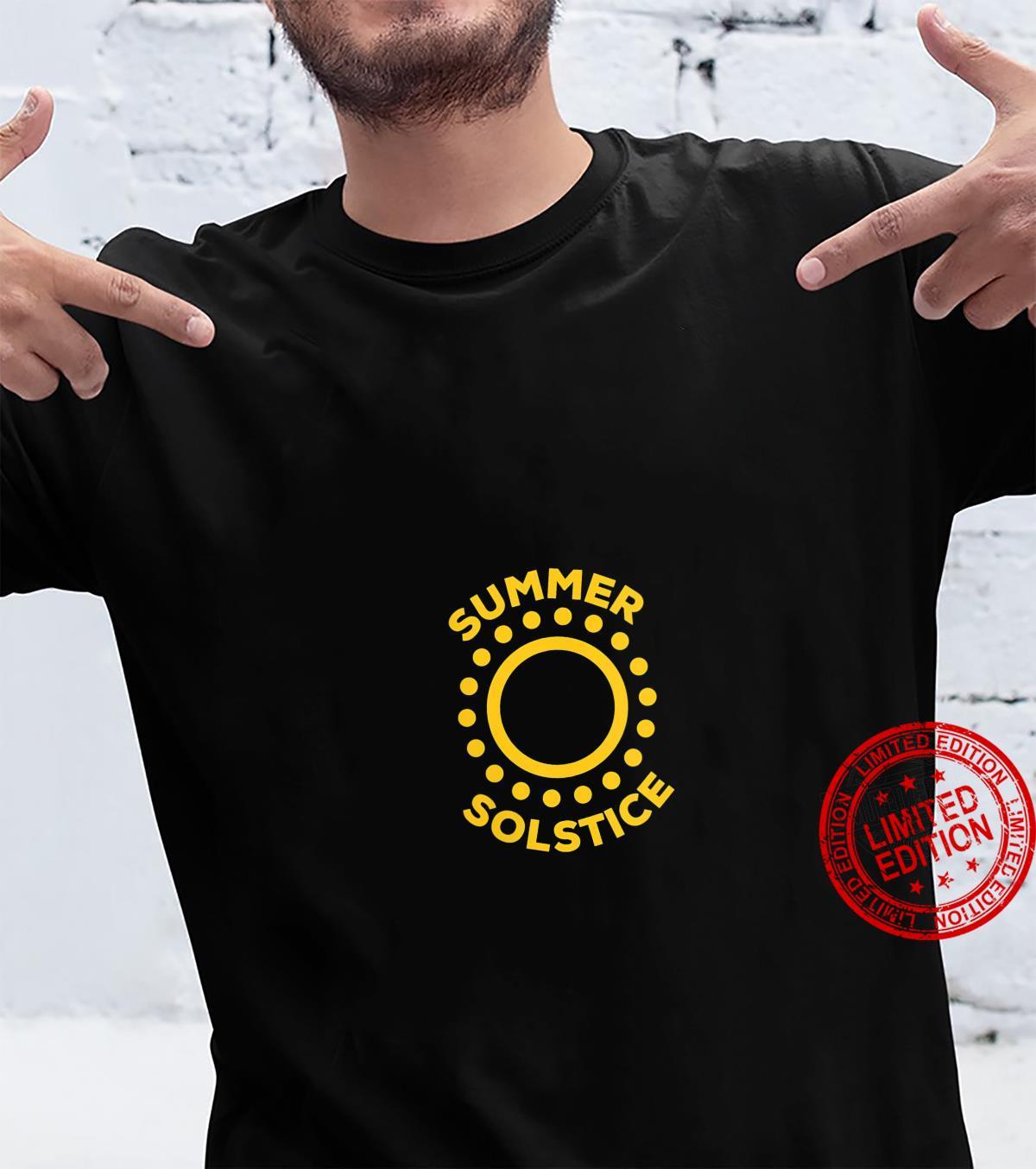 Womens Circles Sun Summer Solstice Shirt