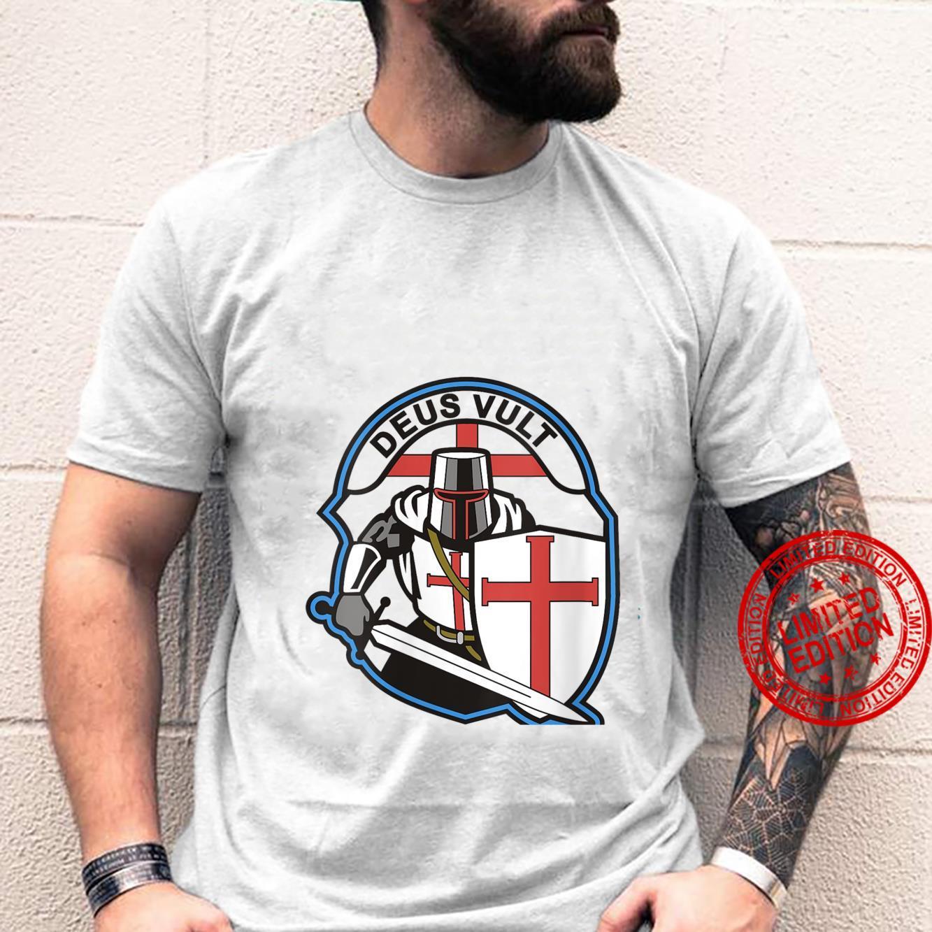 Womens DEUS VULT Knights Templar Crusader Airsoft Paintball Shirt