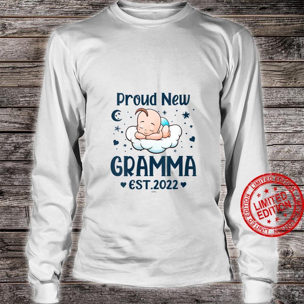 Womens Gramma Proud New Gramma EST 2022 Mother's day Shirt long sleeved