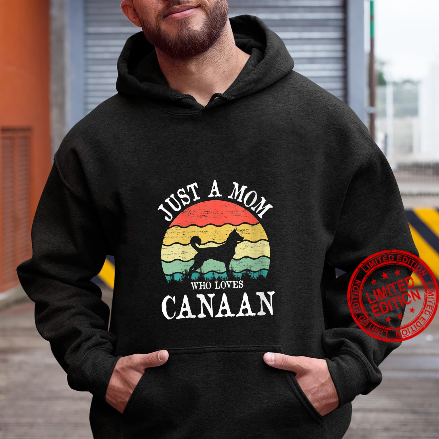 Womens Just A Mom Who Loves Canaan Dog Mom Shirt hoodie