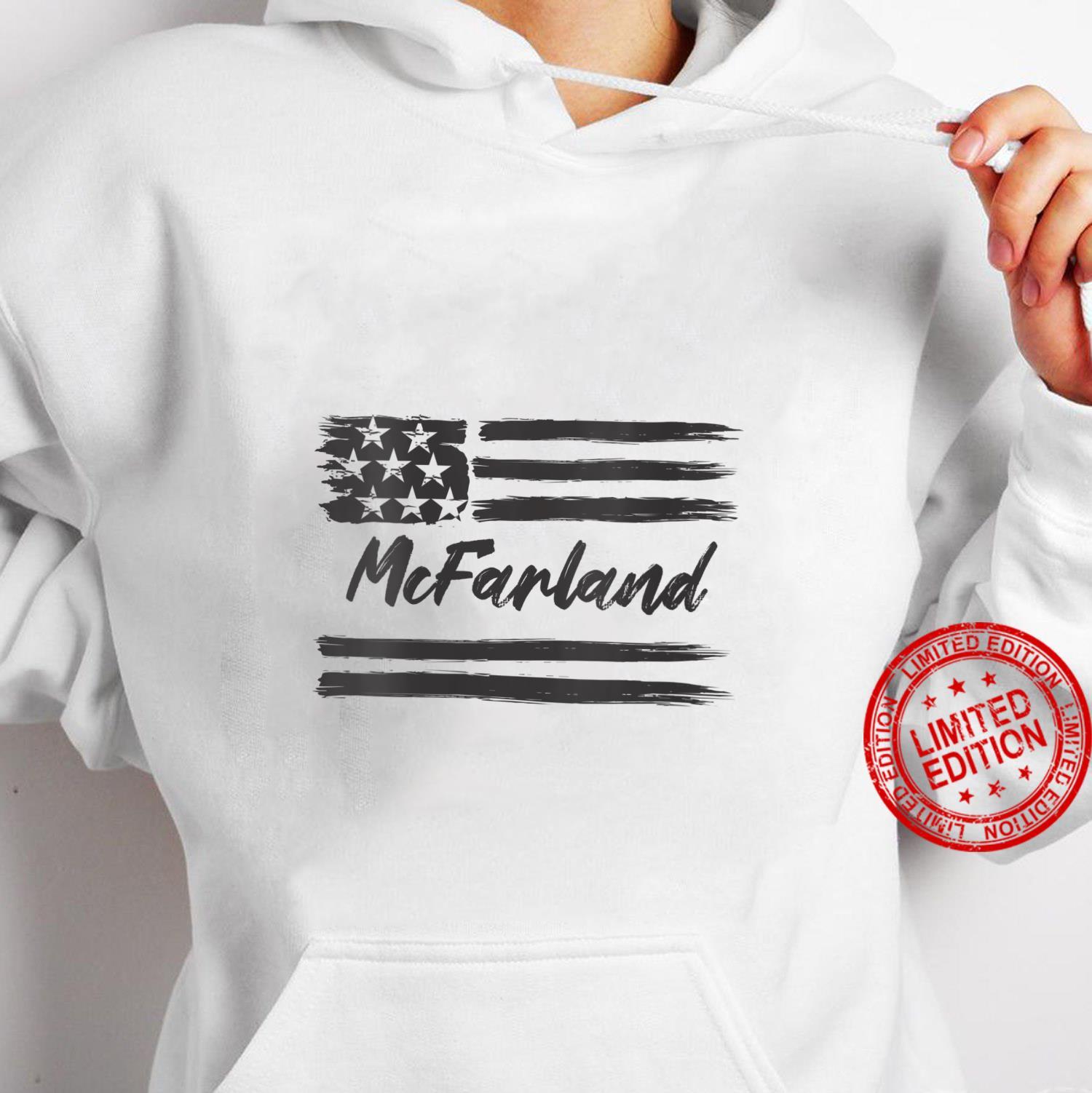Womens McFarland Personalized Name, Stars and Stripes, USA Flag Shirt hoodie