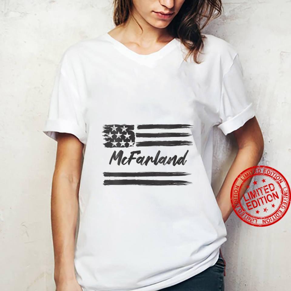 Womens McFarland Personalized Name, Stars and Stripes, USA Flag Shirt ladies tee