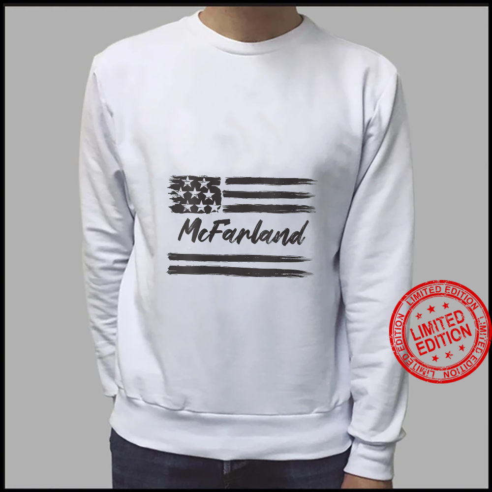 Womens McFarland Personalized Name, Stars and Stripes, USA Flag Shirt sweater