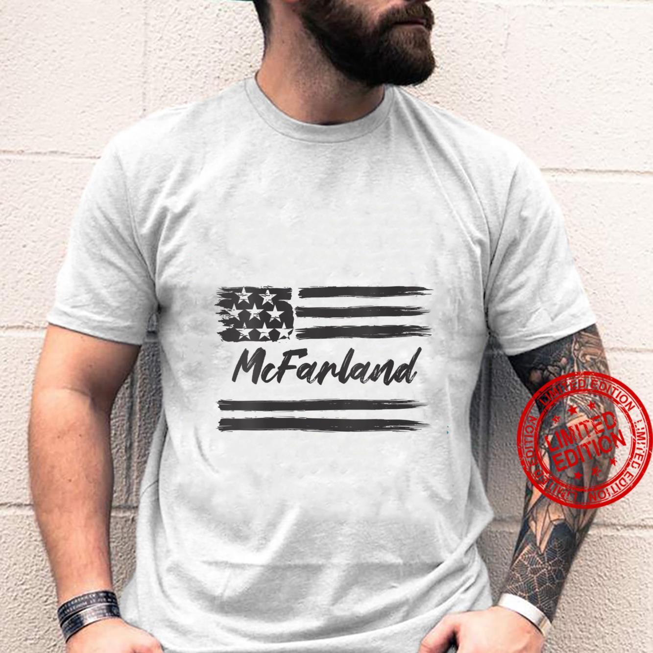 Womens McFarland Personalized Name, Stars and Stripes, USA Flag Shirt