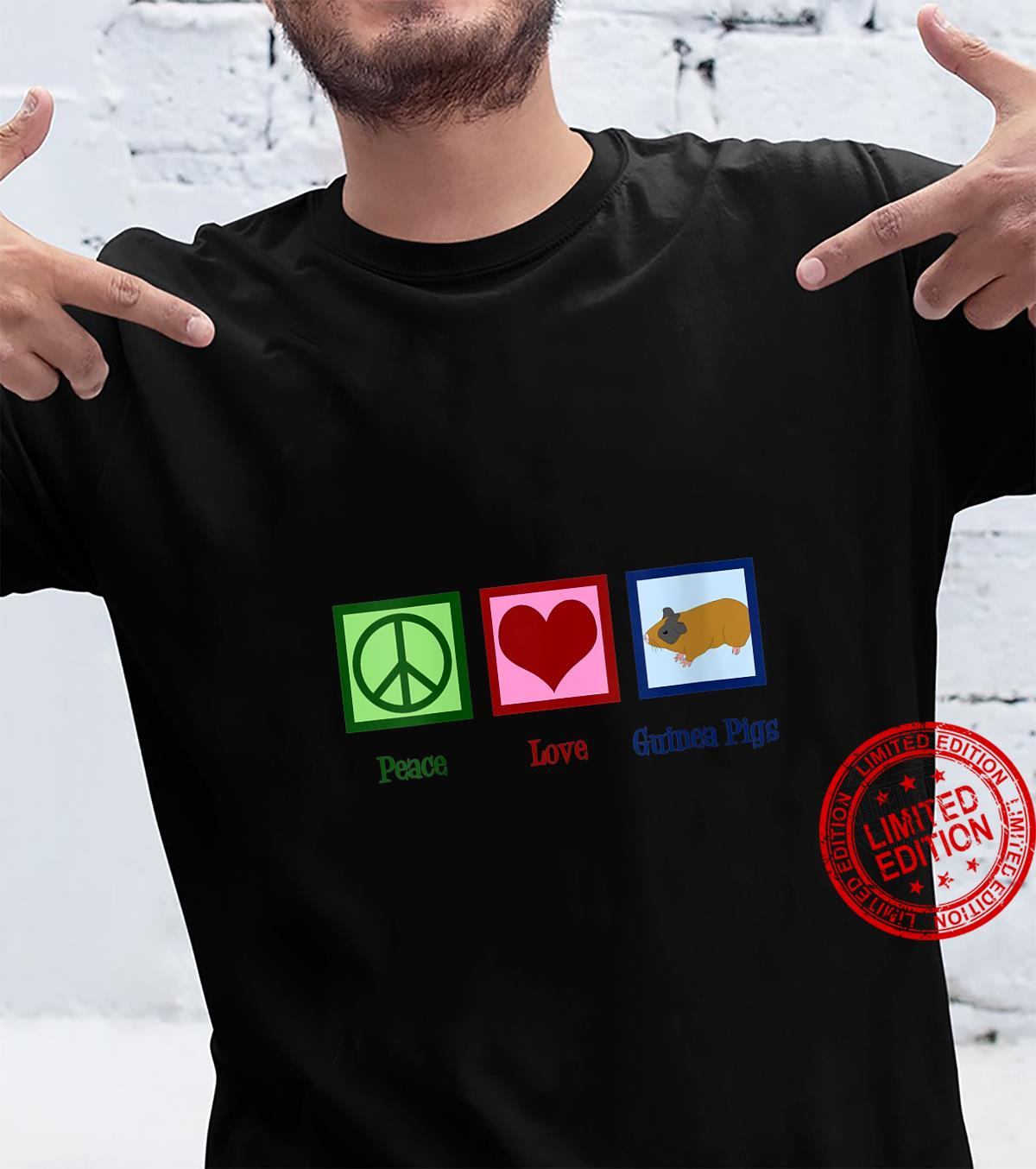 Womens Peace Love Guinea Pigs Shirt