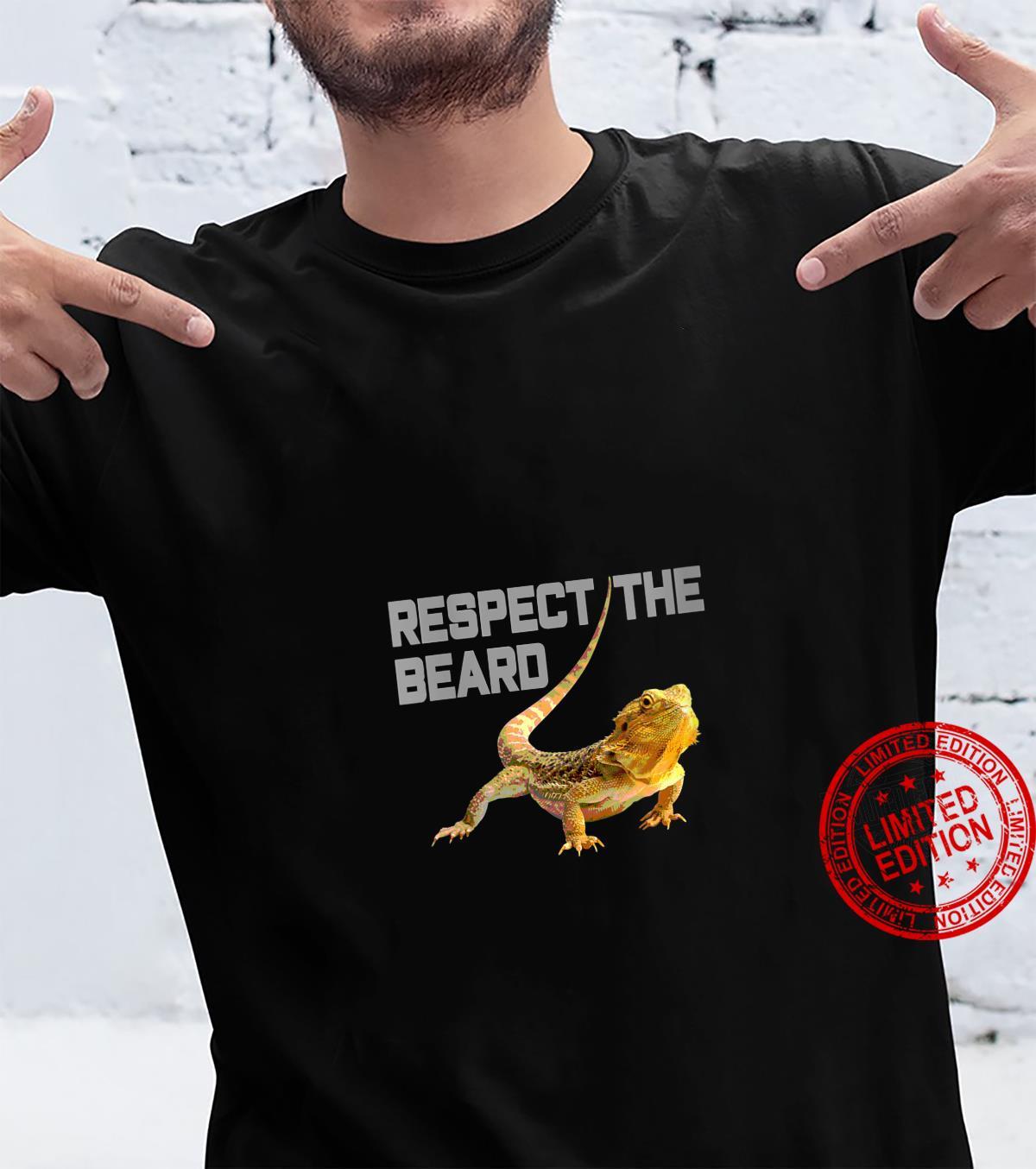 Womens Respect the Beard, Bearded Dragon, Bearded Shirt