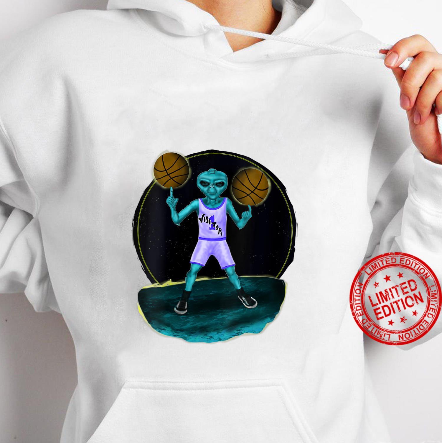 Womens Space Alien UFO Creature Basketball Player Shirt hoodie
