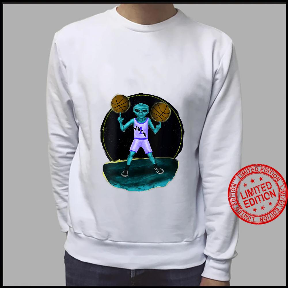 Womens Space Alien UFO Creature Basketball Player Shirt sweater