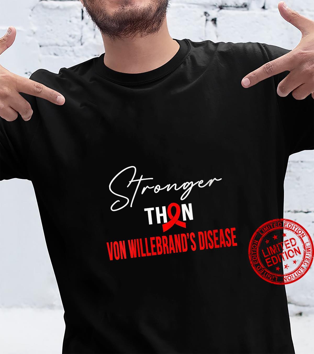 Womens Stronger VON WILLEBRAND'S DISEASE Warrior Shirt