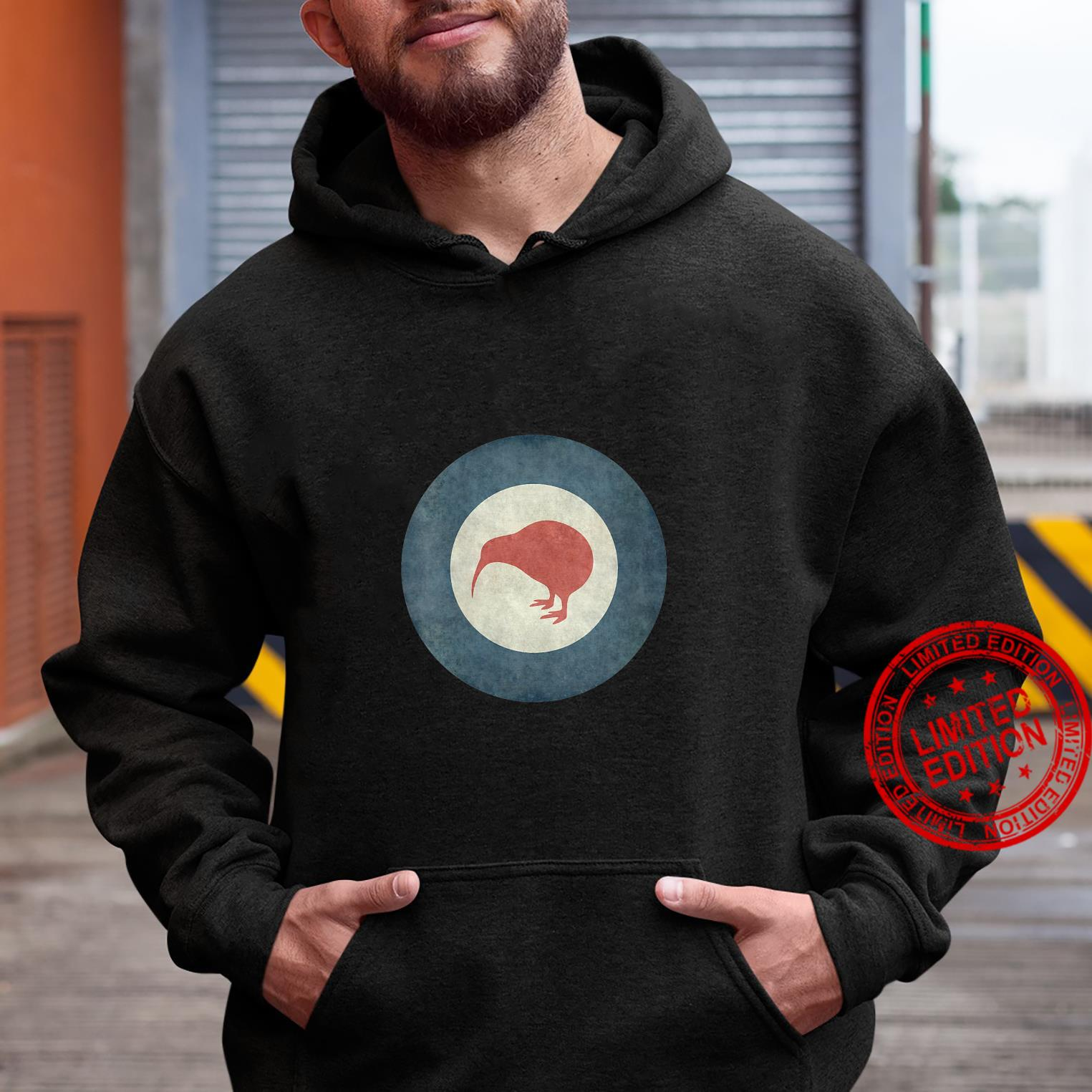 Womens Stylized air force Roundel of New Zealand Grungy Shirt hoodie