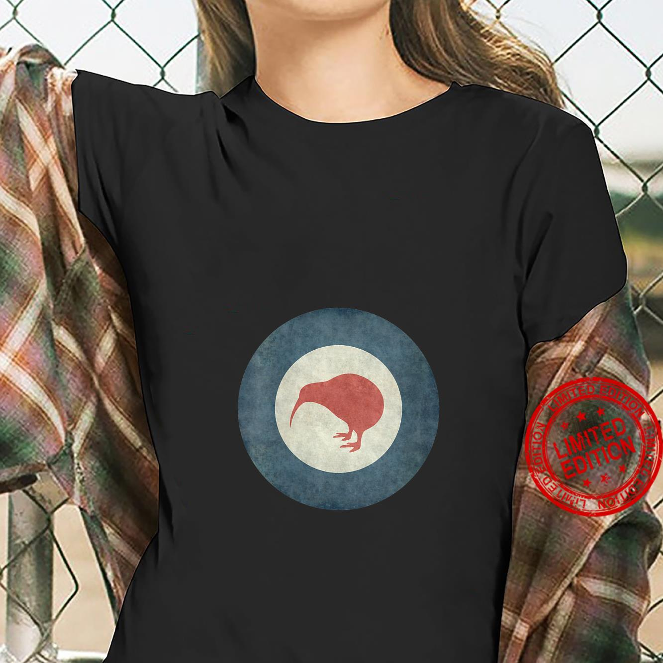 Womens Stylized air force Roundel of New Zealand Grungy Shirt ladies tee