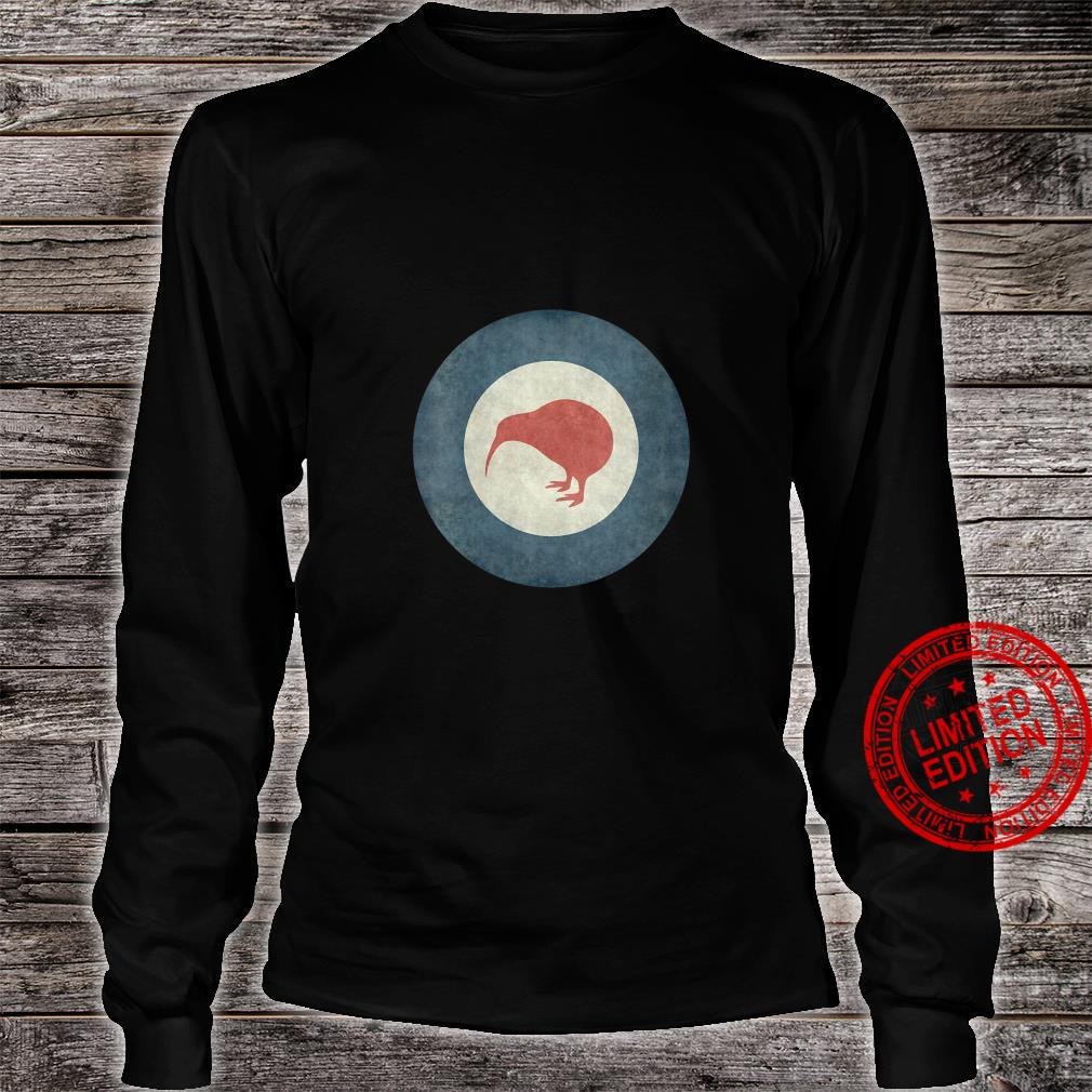 Womens Stylized air force Roundel of New Zealand Grungy Shirt long sleeved