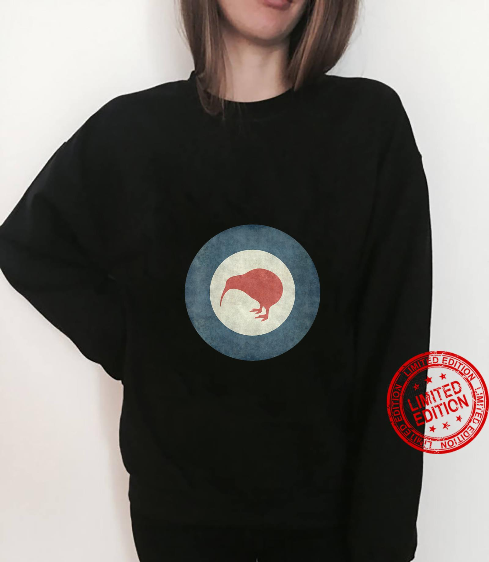 Womens Stylized air force Roundel of New Zealand Grungy Shirt sweater