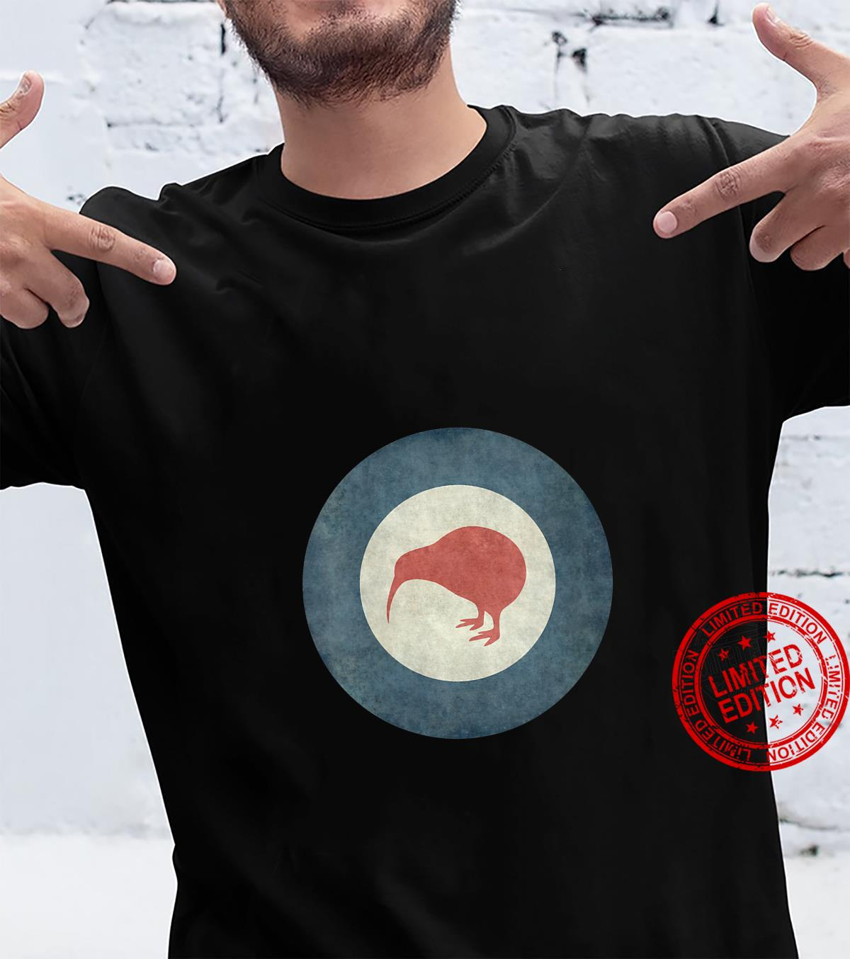 Womens Stylized air force Roundel of New Zealand Grungy Shirt