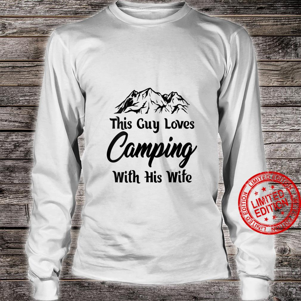 Womens This guy loves cameoing with this wife hilarious design Shirt long sleeved