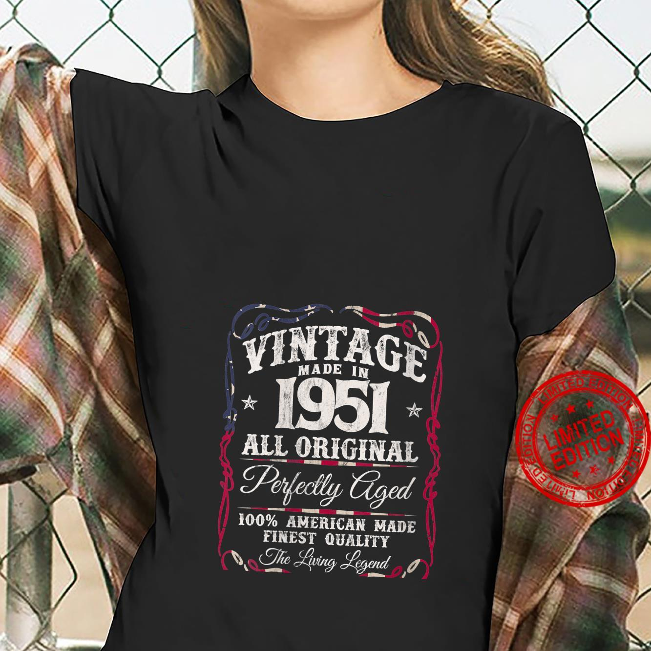 Womens Vintage USA Legends Made in 1951 Classic 70th Birthday Shirt ladies tee