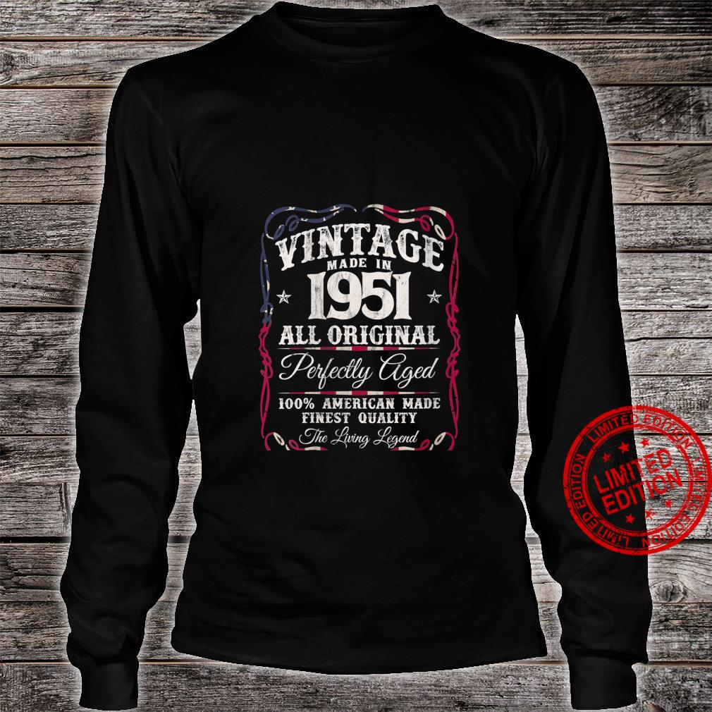 Womens Vintage USA Legends Made in 1951 Classic 70th Birthday Shirt long sleeved