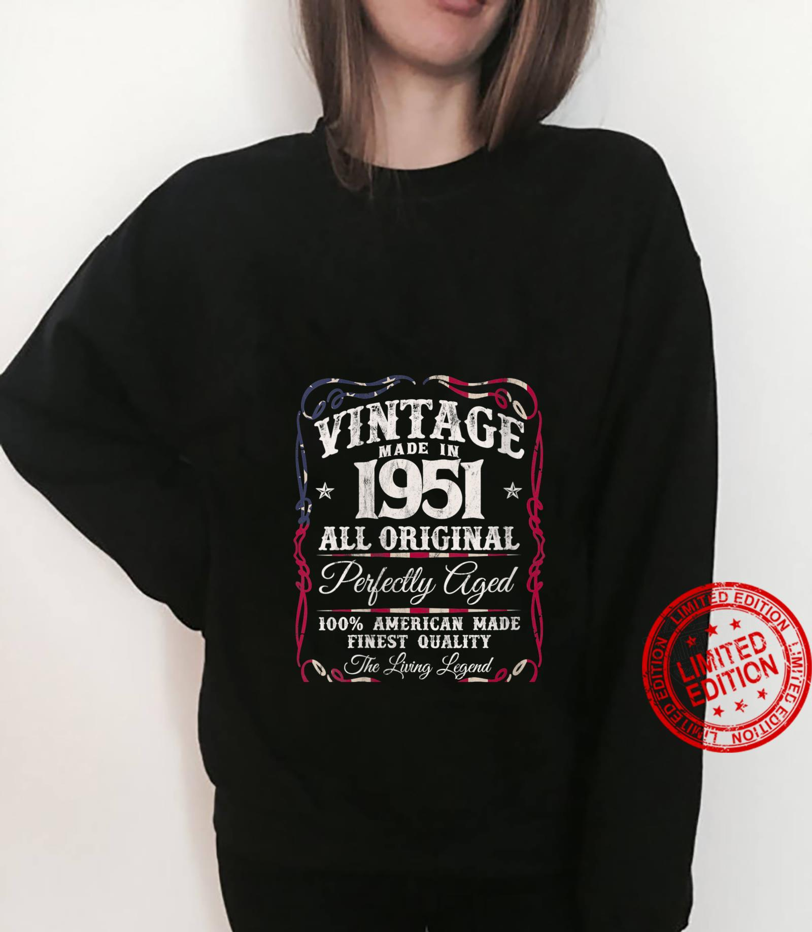 Womens Vintage USA Legends Made in 1951 Classic 70th Birthday Shirt sweater