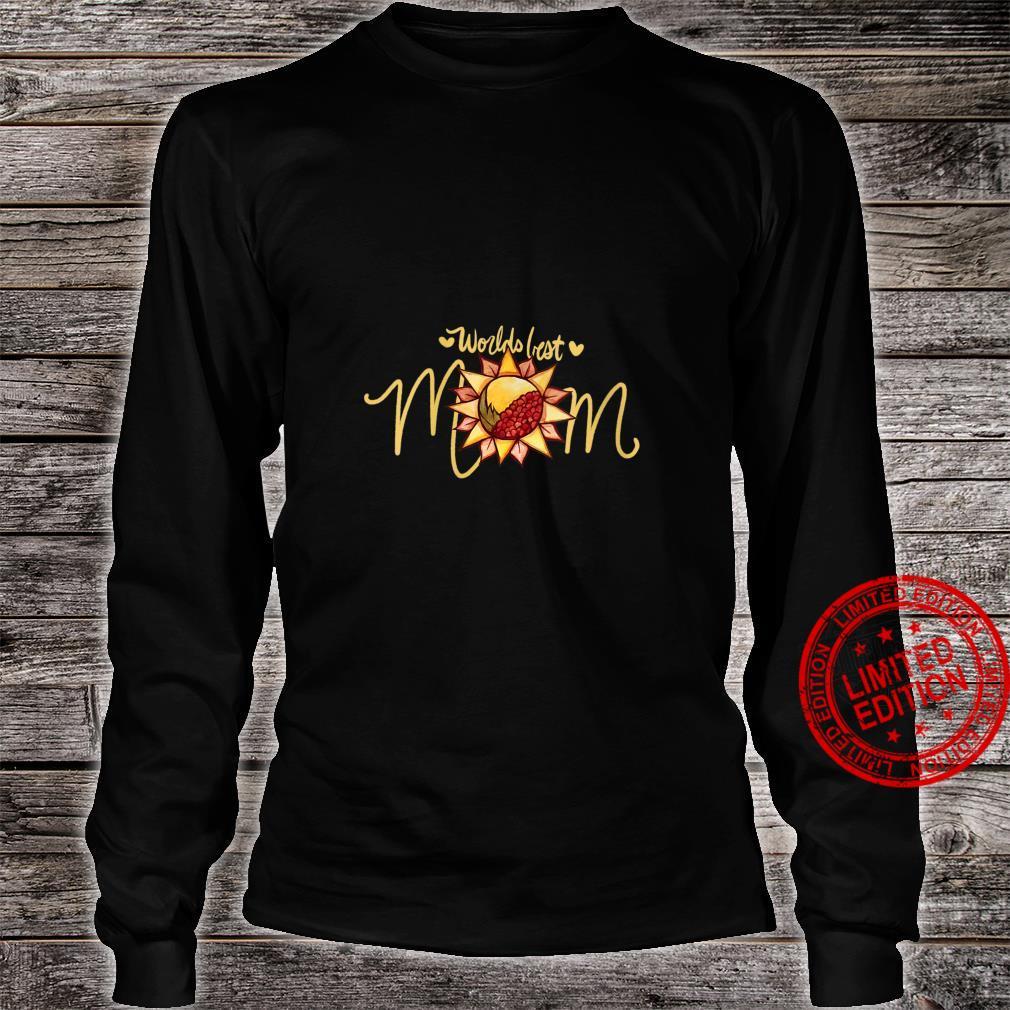 Womens Worlds Best Mom Nature Shirt long sleeved