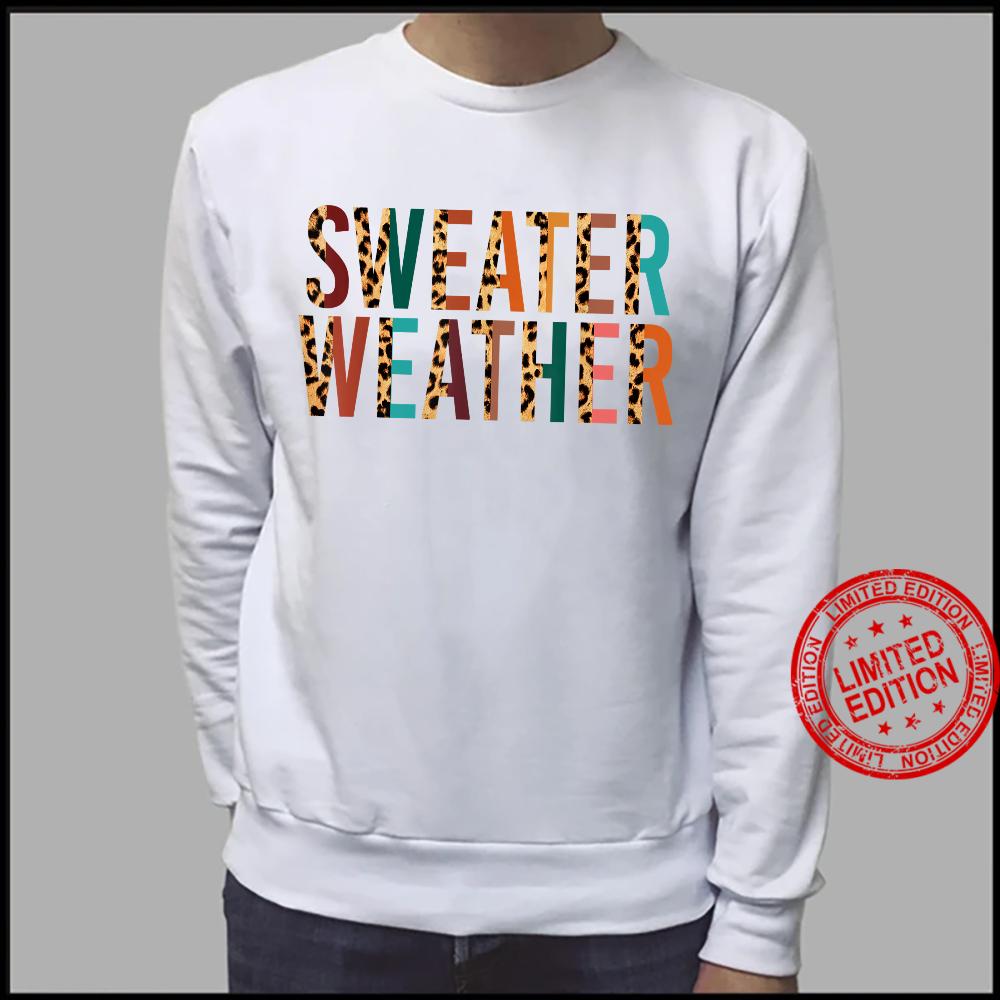 Xgwk Leopard Weather Fall Autumn Vibes Thanksgiving Shirt sweater